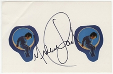 Michael Jackson Signed Neverland Sticker