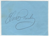 Elvis Presley 1972 Las Vegas International Hotel Signed Cut