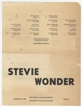 Stevie Wonder Original 1969 Concert Handbill, Program Biography and Ticket Stub