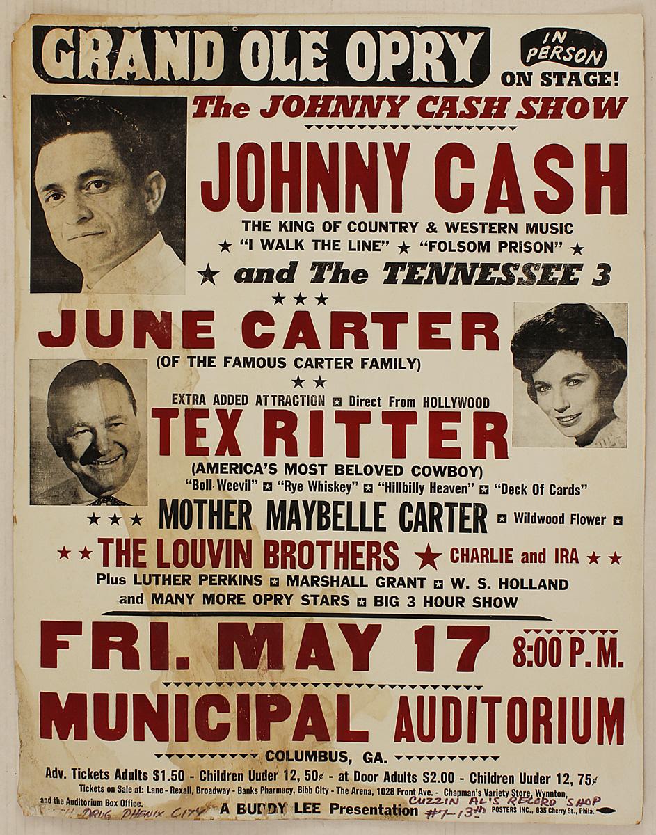 Lot Detail - Johnny Cash Original 1963 Concert Poster