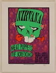 Nirvana Original Artist Signed 10th Anniversary Silkscreen Poster