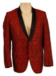 Tommy Bolin Stage Worn Red Abstract Floral Jacket