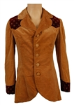 Tommy Bolin Stage Worn Custom Brown Corduroy Blazer with Floral Trim