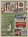 Pearl Jam at Fenway Park Original Concert Poster Lithographs Signed by Artist (6)