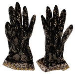 Prince Stage Worn Black Lace Gloves