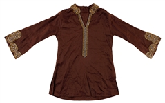 Prince  Stage Worn Elaborately Beaded & Sequined Brown Tunic