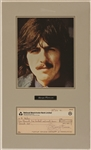 George Harrison Signed 1972 Check to Nicky Hopkins