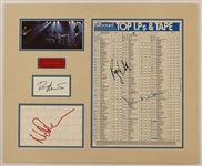 "Pink Floyd Signed ""The Wall"" Billboard Top LPs and Tape Display."