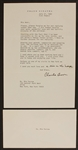 "Frank Sinatra Original Personal Letter to Mia Farrow Signed ""Charlie Brown"""