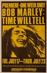 "Bob Marley ""Time Will Tell"" Original Film Premiere Poster"