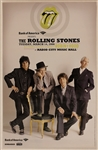 Rolling Stones Original Radio City Music Hall Private Show Concert Poster