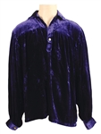 Elvis Presley 1956 Tupelo, Mississippi Stage Worn Blue Velvet Shirt Gifted to Him by Natalie Wood