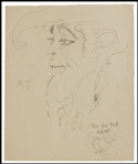 Michael Jackson Signed & Inscribed Hand Drawing