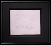 "Bob Dylan Signed ""Colorado Truck Stop"" Drawing"