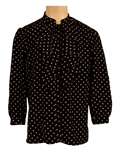 Prince Owned and Worn Black & White Print Ruffled Shirt