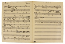 "Madonna and Stephen Bray Original Handwritten ""Head Over Heels"" Music Score, Circa 1980"