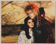 "David Bowie and Jennifer Connelly Signed ""Labyrinth"" Photograph"