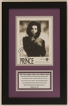 Prince Signed Paisley Park Promotional Photograph