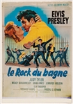 "Elvis Presley Original ""Jailhouse Rock"" (Le Rock du Bagne) French Movie Poster"