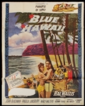 "Elvis Presley ""Blue Hawaii"" Original Movie Poster (In two pieces)"