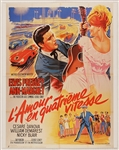 "Elvis Presley ""Viva Las Vegas"" Original French Movie Poster"
