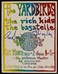 The Yardbirds Original Concert Flyer Signed by Chris Dreja and Jim McCarty
