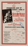 Stevie Ray Vaughan/Gregg Allman Band Original 1987 Concert Poster Signed by Gregg Allman