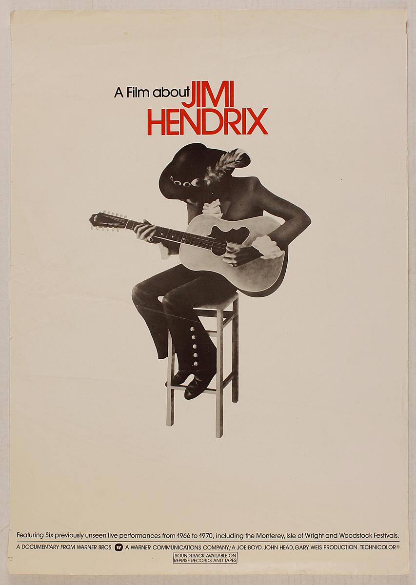 lot detail jimi hendrix original promotional film poster. Black Bedroom Furniture Sets. Home Design Ideas