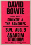 David Bowie/Siouxsie and The Banshees Original Cardboard Concert Poster