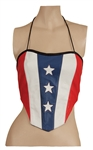 Britney Spears Owned American Flag Leather Top and Signed Photograph