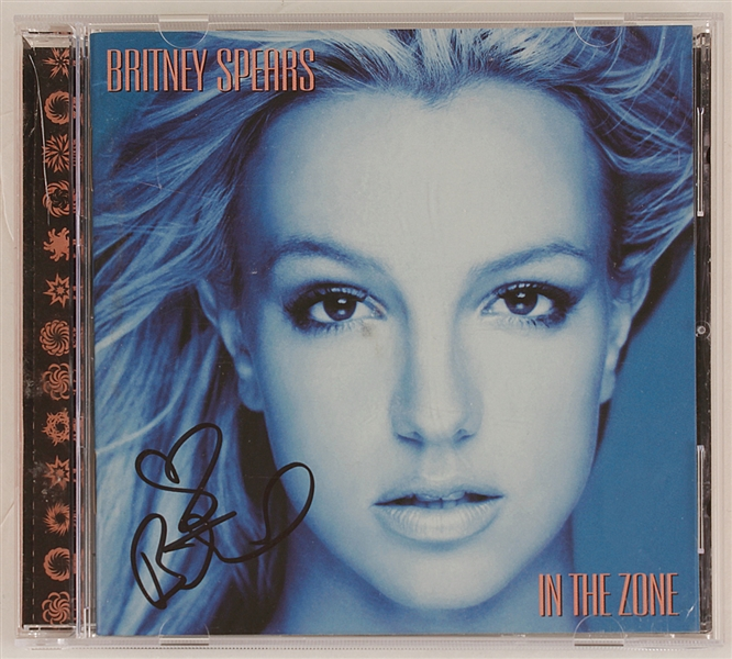 "Britney Spears Signed ""In The Zone"" C.D."