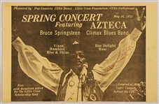 Bruce Springsteen Original 1973 Concert Poster with Original Newspaper Article About Concert