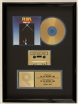 "Elvis Presley ""Moody Blue"" Original RIAA Gold Cassette and C.D. Award"