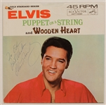"Elvis Presley Signed & Inscribed ""Puppet on a String""/""Wooden Heart"" 45 Record"