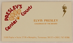 "Elvis Presleys Personal ""Chairman of the Board"" Presleys Center Courts Business Card"