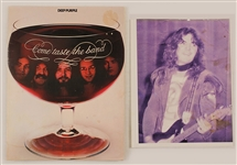 Deep Purple and Tommy Bolin Original Concert Collection with Johnnie Bolin Signed Picture.