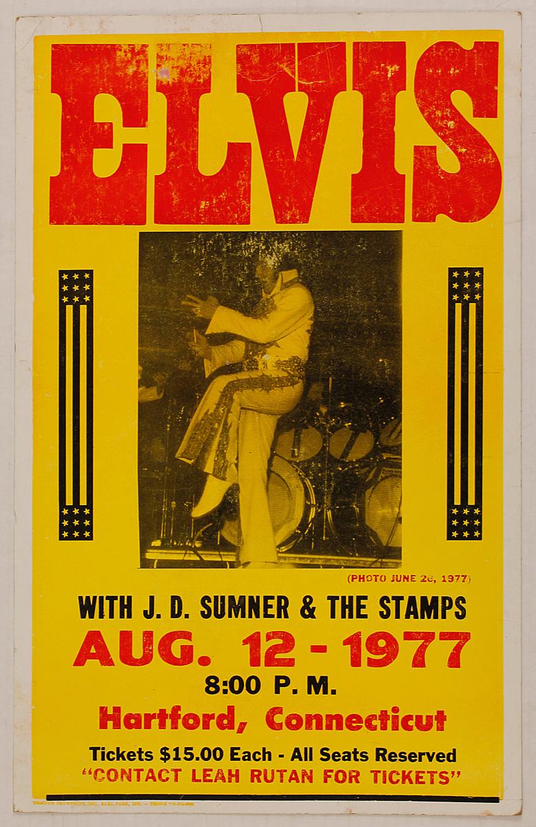 16240d2dcdf26 Lot Detail - Elvis Presley Original August 1977 Concert Poster