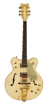 Paul McCartney and U2 Studio Used 1970 Gretsch White Falcon Guitar