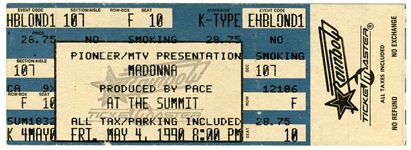 "Madonna 1990 ""Blond Ambition Tour"" First US Show (Houston Ticket)"