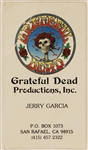 Jerry Garcias Personal Business Card