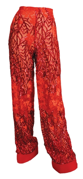 "Kelly Rowland ""The Voice"" Stage Worn Red Sequin Pants"
