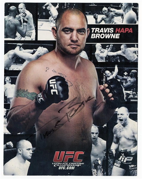 Travis Browne Signed Picture Card