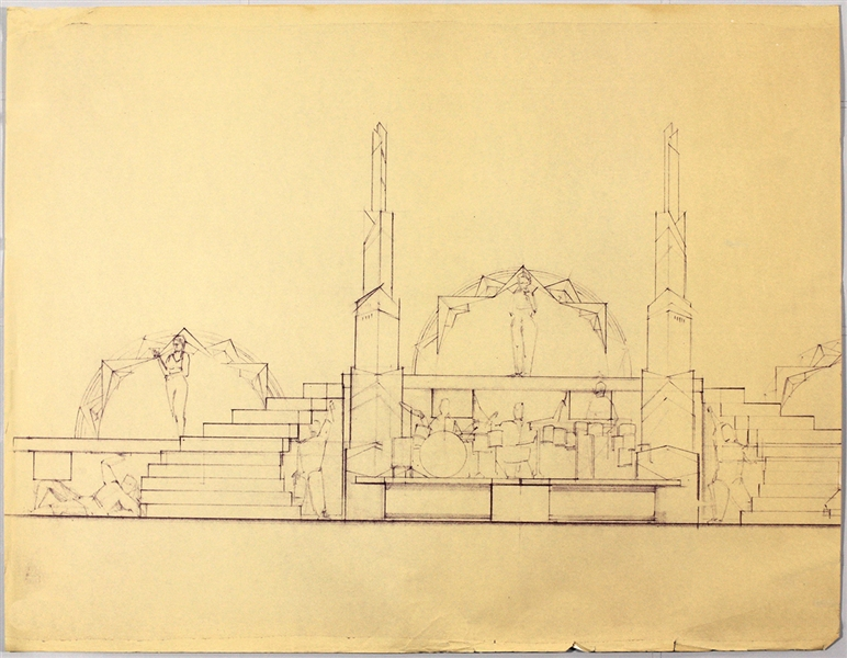 Madonna Original Stage Design Blueprints for 1990 Blonde Ambition Tour