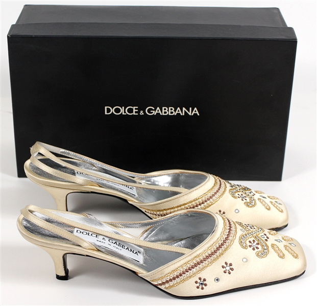 Madonna Owned and Re-Gifted Dolce & Gabbana Kitten Heel Shoes