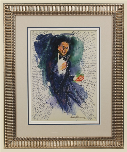 "LeRoy Neiman Signed ""Frank Sinatra at Hofstra"" Original Lithograph"