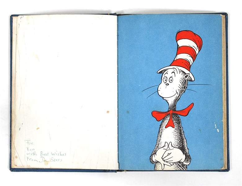 "Dr. Seuss Signed & Inscribed Original 1957 First Edition ""Cat In the Hat"" Book"