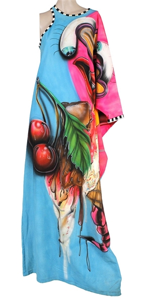 "Lady Gaga ""artRave World Tour"" Worn Custom Colorful One-Shoulder Dress"