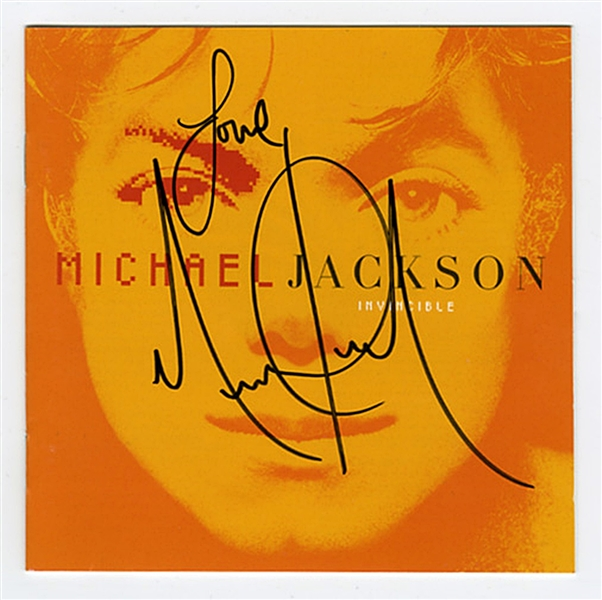 "Michael Jackson Signed ""Invisible"" C.D."