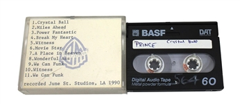 "Prince 1990 Original Unreleased ""Crystal Ball"" Demo Digital Audio Tape (DAT)"