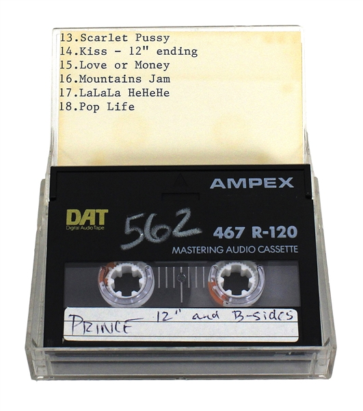 "Prince Original Unreleased ""12"" and B-Sides"" Demo Digital Audio Tape (DAT)"